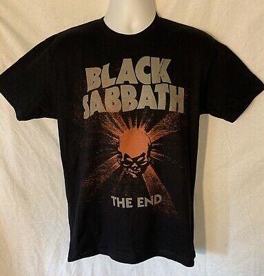 New Original Black Sabbath 2016 The End Tour Double Sided Black Medium T Shirt