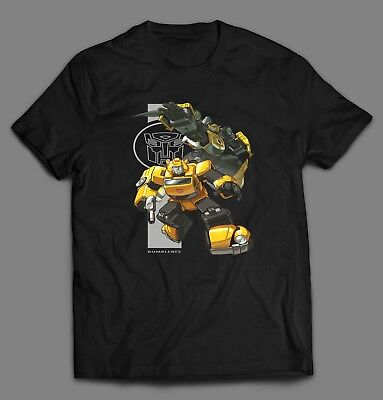 G1 TRANSFORMERS BUMBLE BEE ART **OLDSKOOL ARTWORK** Shirt *FULL FRONT OF SHIRT* (Bumble Bee T Shirts)