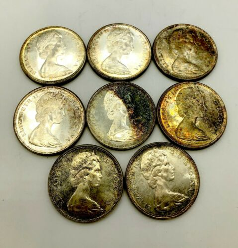 Set of 8 - 1967 Canada Silver Dollars 80% Silver