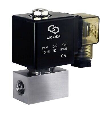 High Pressure Stainless Energy Save Electric Solenoid Valve Nc 14 Inch 24v Dc
