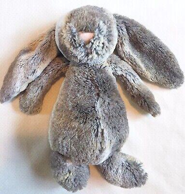 Jellycat Bunny Rabbit Woodland Large Plush Stuffed Animal Gray Brown Rare 12