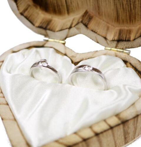 Hochzeit Ringkissen Ring Halter Ringkästche Herzförmig Romantische  NEU