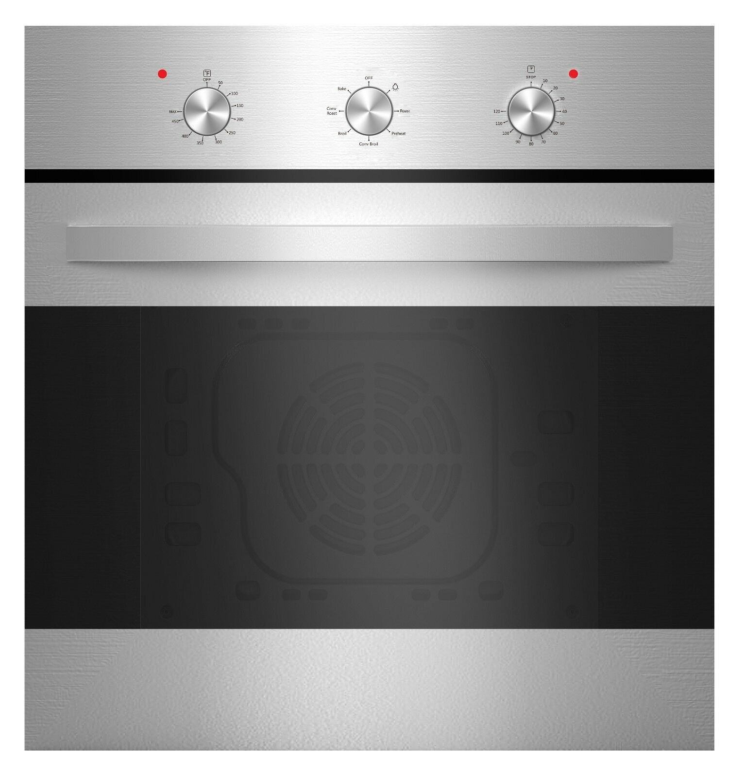 "Empava 24"" Tempered Glass Electric Built-in Single Wall Oven"