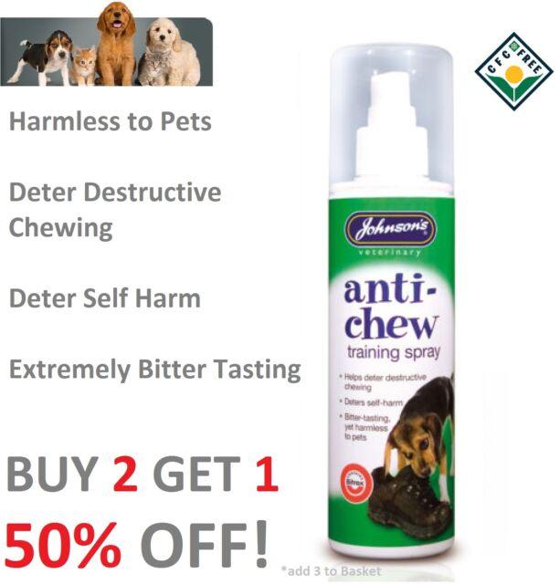 Johnsons Anti Chew Dog Puppies Training Spray 150ml Extremely Bitter Tasting