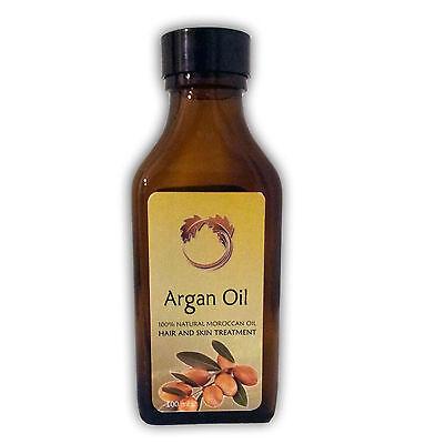 100% PURE Natural Moroccan Argan Oil Hair Skin Antiaging Treatment 100ml / 3.4oz