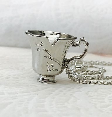 Beauty And The Beast Chipped Tea Cup Necklace US SELLER