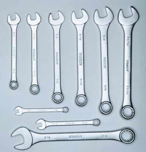 Stanley+Slimline+Combination+Wrenches+%281%2F4%22+to+3%2F4%22%29+1-13-241+%289+pieces%29