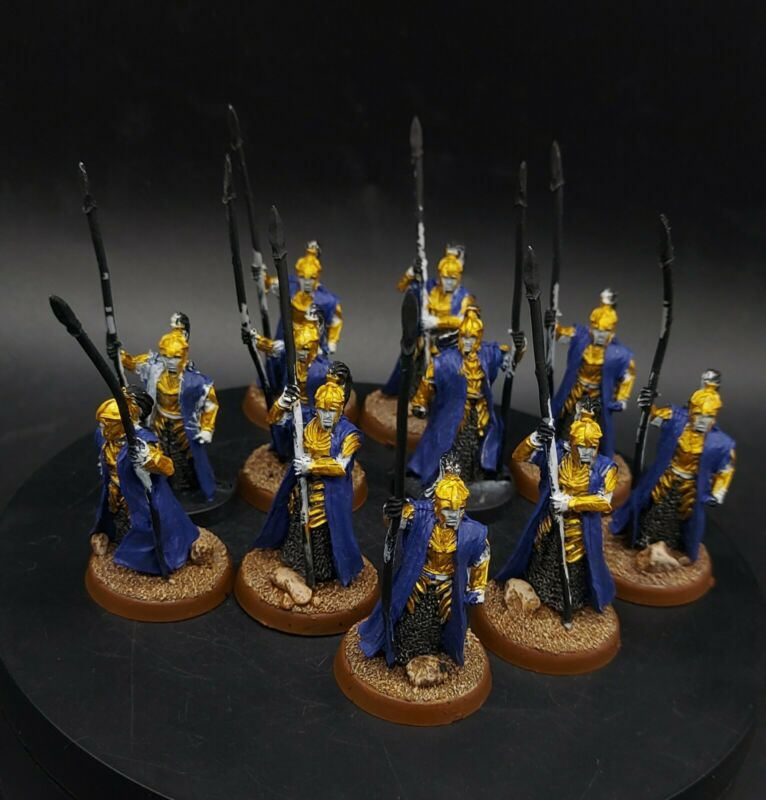 PART PAINTED Warhammer LoTr Guard of the galadhrim court ×11 games workshop 28mm