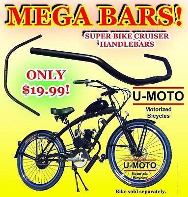 26c52a9b30a 2-STROKE 66CC/80CC MOTORIZED BICYCLE KIT BEACH CRUISER HANDLEBARS FOR BIKES