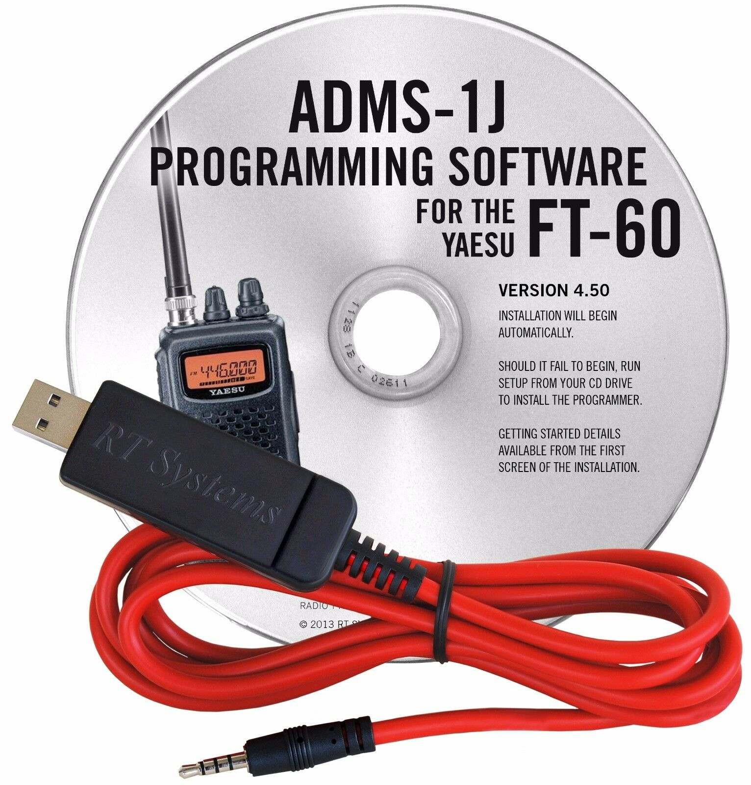 ADMS-2900 Programming Software and USB-29F cable for the Yaesu FT-2900R