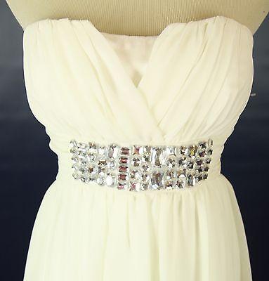 Windsor Dress Size 9 Ivory Junior Cocktail Prom Formal  Short Cruise Strapless