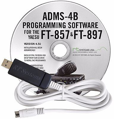 RT Systems Programming Software & Cable for Yaesu FT857/857D/897/897D