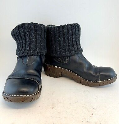 El Naturalista Black Yggdrasil Sweater Cuff Ankle Boots size 37 6.5 7 $200