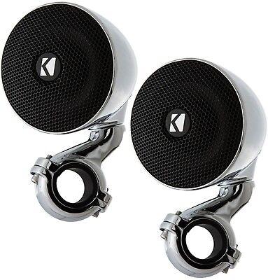 Kicker 40Psm34 Marine Boat Audio 3  Mini Enclosed Boxed Handlebar Speakers Psm34
