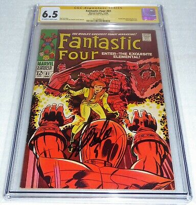 Fantastic Four #81 CGC SS Signature Autograph STAN LEE Crystal Wizard Appearance
