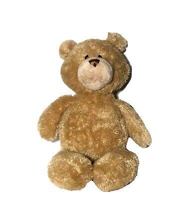"Baby Gund Hug Me Hugo Talking Bear 17"" Plush Brown Mouth Moves Interactive Soft"