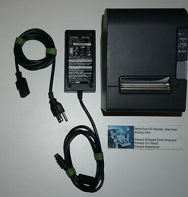 Epson Tm-t88iv Thermal Pos Receipt Printer M129h Serial With Power Supply
