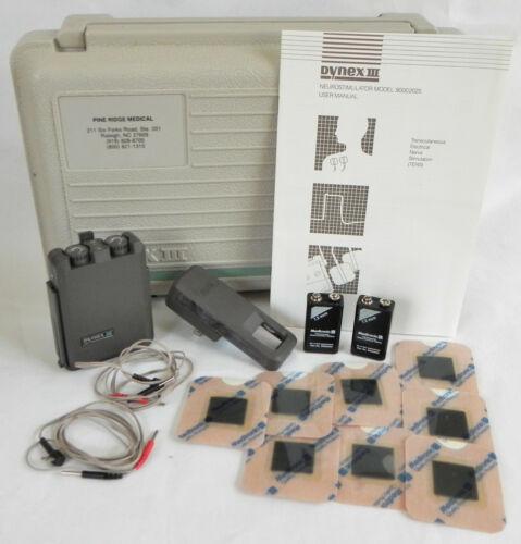 Dynex III Neurostimulator, Model 2025, TENS Device, Medtronic, Complete in Case