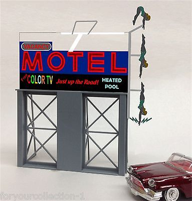 Miller's  Motel Vacancy  Animated Neon Sign O/HO 88-1651 Miller Engineering