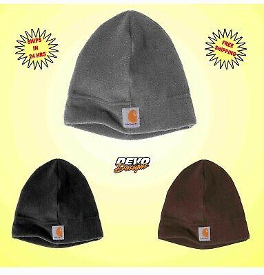 Carhartt Fleece Hat Beanie Mens Womens Unisex Sock Cap A207 Black Brown Grey NEW