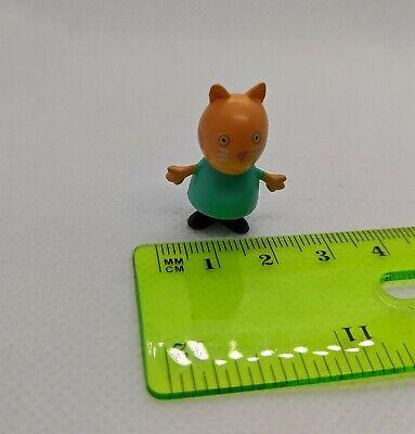 """Peppa Pig Candy Cat Mini Figure 1"""" Tall Plastic Toy Doll"""