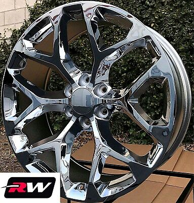 "22 inch Chevy Avalanche OE Replica Snowflake Wheels Chrome Rims 22 x9"" 6x139.7"