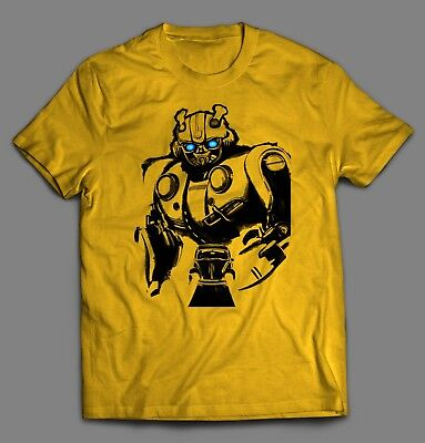 TRANSFORMERS BUMBLE BEE MOVIE SPLASH ART **Shirt *FULL FRONT OF SHIRT* (Bumble Bee T Shirts)