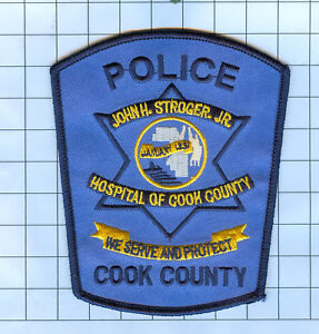 Police Patch - Illinois - jOHN H STROGER JR. COOK COUNTY HOSPITAL