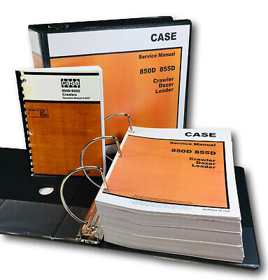 Case 850d 855d Crawler Dozer Loader Service Operators Owners Manual Repair Shop