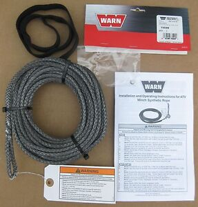 Warn-73599-Synthetic-Rope-Replacement-Repair-3-16-50-ATV-Quad-RT-XT-Series-Winch