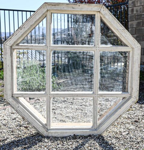 Antique Octagon Shaped Window 39x39x6