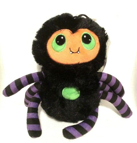Halloween Spider Plush Purple Orange Black  8 in American Greetings Decoration