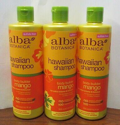 Alba Shampoo - Alba Botanica Hawaiian, Mango Shampoo 3-12 oz BOTTLES (LOT OF 3)