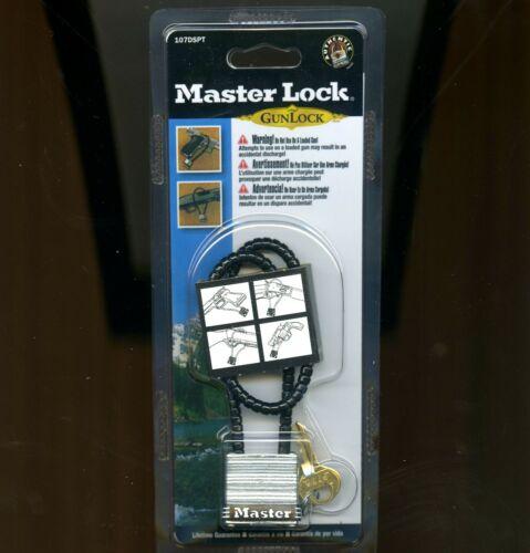 "Master Lock Gun Lock Calif approved armored cable 1-5/16"" deadbolt key 107DSPT"