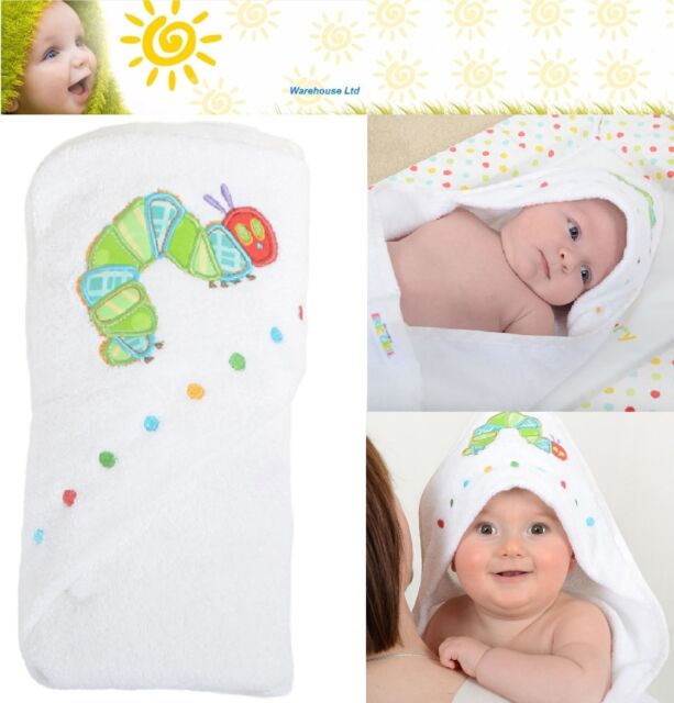 The Very Hungry Caterpillar Applique Cuddle Robe Baby Bath