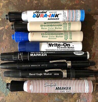 Sanford King Size Markal Eagle Smelly Vintage Permanent Marker Lot D Qty.8 Usa