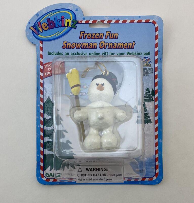 Webkinz Frozen Fun Snowman Christmas Ornament New w/ Unused Code NIP