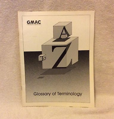 Gmac Financial Services    Glossary Of Terminology