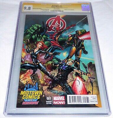 Avengers #1 CGC SS Signature Autograph STAN LEE 9.8 Midtown Comics Variant Cover