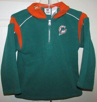 NFL Miami Dolphins Half Zip Fleece Pullover Youth Small (5-6) EUC