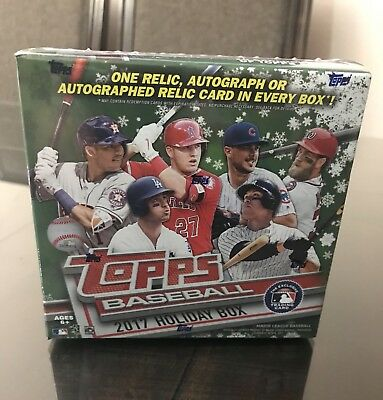 2017 Topps Holiday Box Factory Sealed  1 Auto  Relic Or Relic Auto Per Box