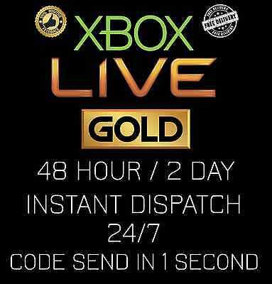 Microsoft Xbox Live 48 Hour   2 Day Trial Code Automatic Instant Delivery 24 7