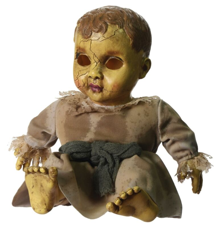 Creepy Haunted Doll With Scary Sounds Ghost Prank Halloween Horror Prop NEW