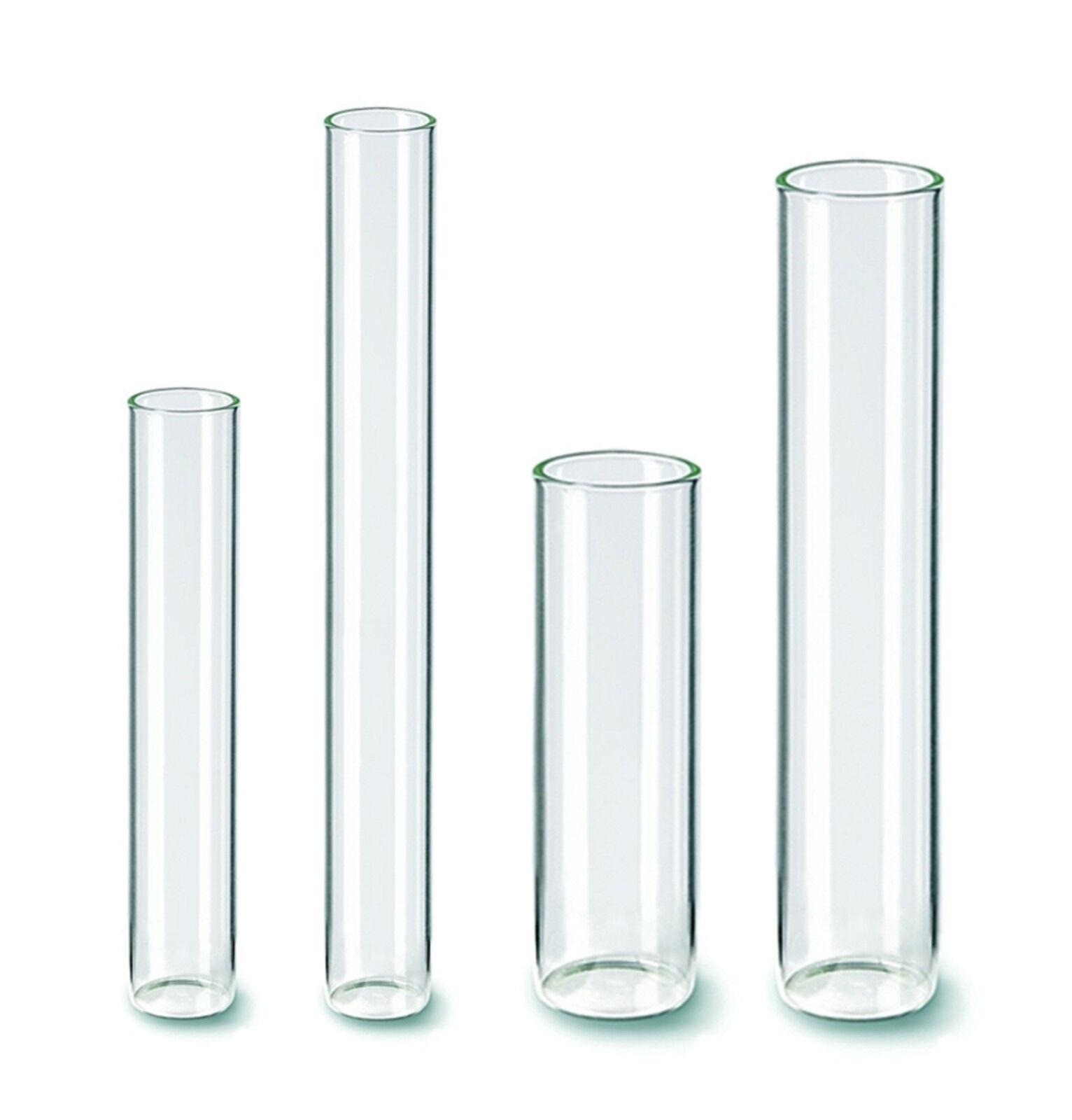 Reagenzglas mit Flachboden Glaszylinder Glasbehälter Glasvase Zylinderglas
