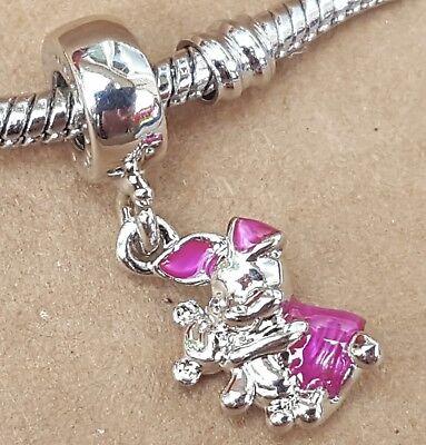 Disney Piglet Jewelry - Disney Pink Piglet Winnie the Pooh Bear Cartoon Bead fit European Charm Bracelet