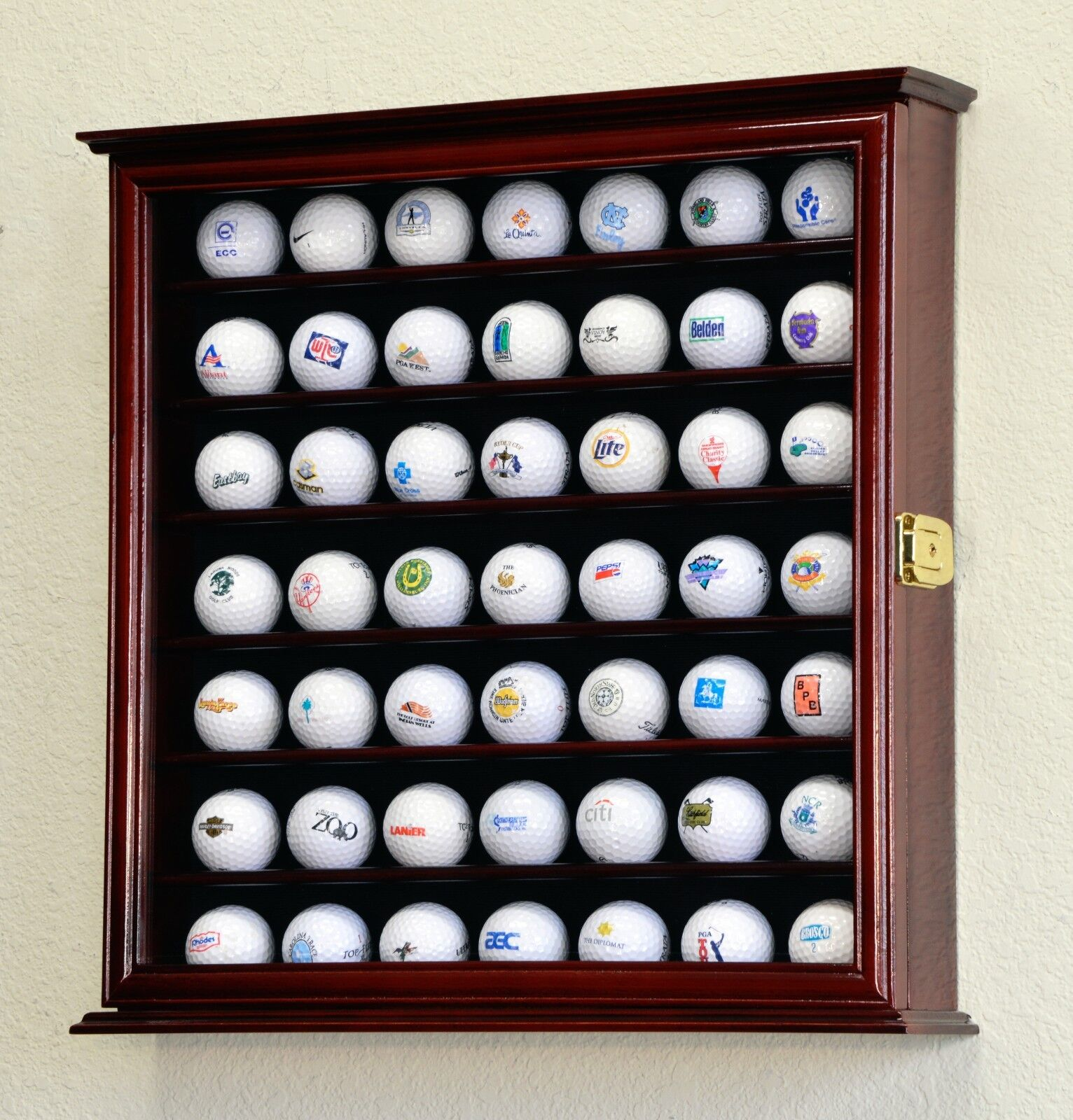 49 Golf Ball Display Case Cabinet Wall Rack Holder W/98% ...