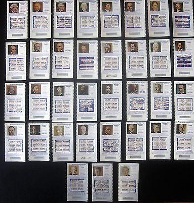 35 Presidents Michigan Instant Lottery Ticket Set  Washington Through Lbj  1975