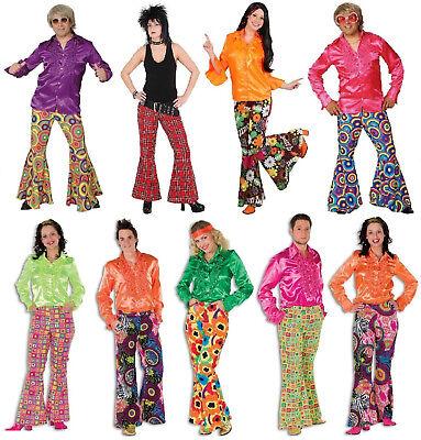 70er 80er Jahre Schlaghose Damen Herren Hose Kostüm Flowerpower Hippie Hippy