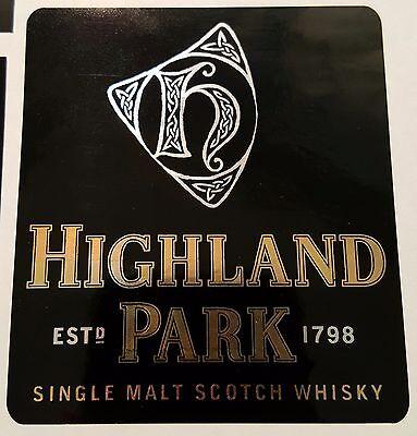 Highland Park Single Malt Scotch Whisky sticker
