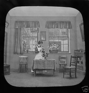 Glass-Magic-lantern-slide-HOW-HARRY-WON-HIS-WIFE-NO-1-C1890-VICTORIAN-TALE